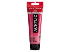 , Talens amsterdam acrylverf tube 120 ml quincridonerose  366