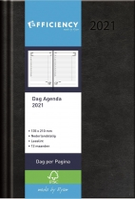 , Agenda 2021 efficiency a5 1 dag per pagina zwart