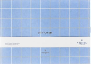 , A-Journal Weekplanner - Lavendel Blauw - Ruit