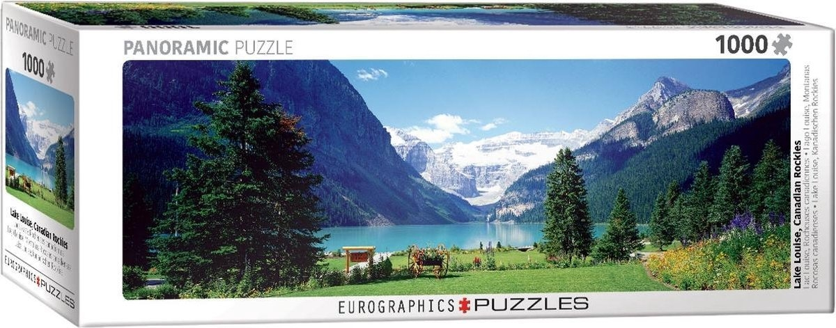 Eur-6010-1456,Puzzel eurographics lake louise , canadian rockies 1000 stukjes