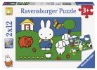 <b>Rav-075669</b>,Nijntje bij de dieren puzzel 2 x 12 stukjes
