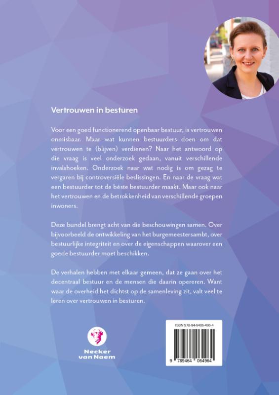 Sabine van Zuydam,Vertrouwen in besturen