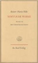 Rilke, Rainer Maria Die bertragungen