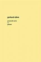 Rühm, Gerhard Gesammelte Werke 1. Gesamtausgabe