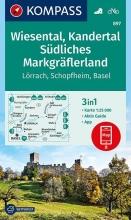 , Wiesental, Kandertal, Südliches Markgräflerland 1:25 000