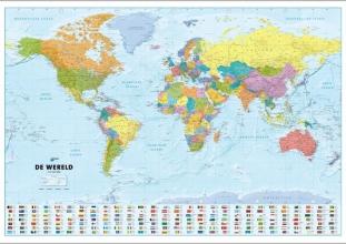 ANWB Wereldkaart (Plano in Koker)
