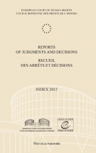 , Reports of judgments and decisions index 2012