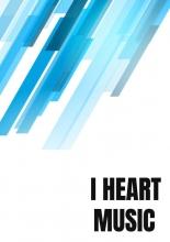 Allets Comfort , Notenschrift- Notenbalken- I Heart music (A5) Allets comfort
