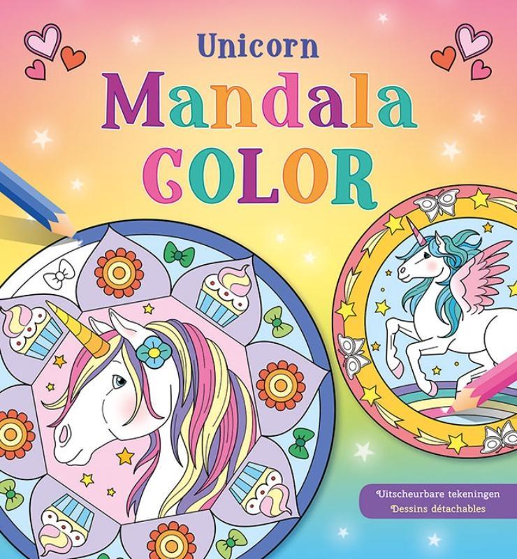 ,Unicorn Mandala Color