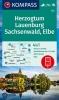 ,KOMPASS Wanderkarte 722 Herzogtum Lauenburg, Sachsenwald, Elbe