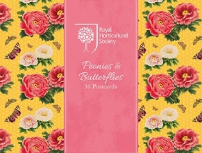 RHS Peonies and Butterflies Postcards