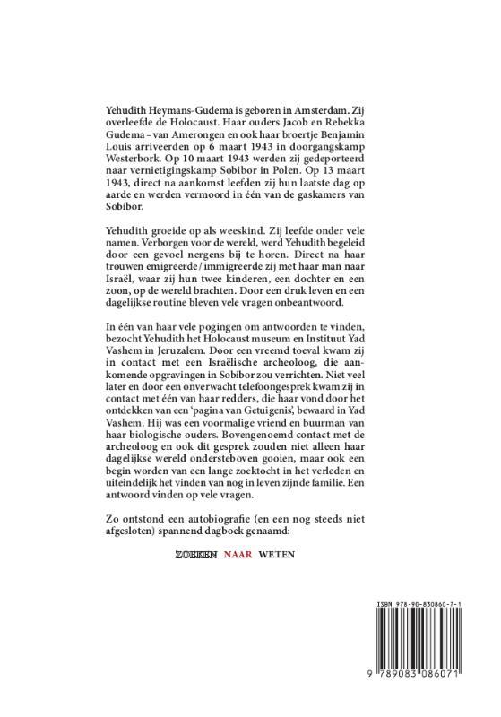 Yehudith Heymans-Gudema,Zoeken naar Weten