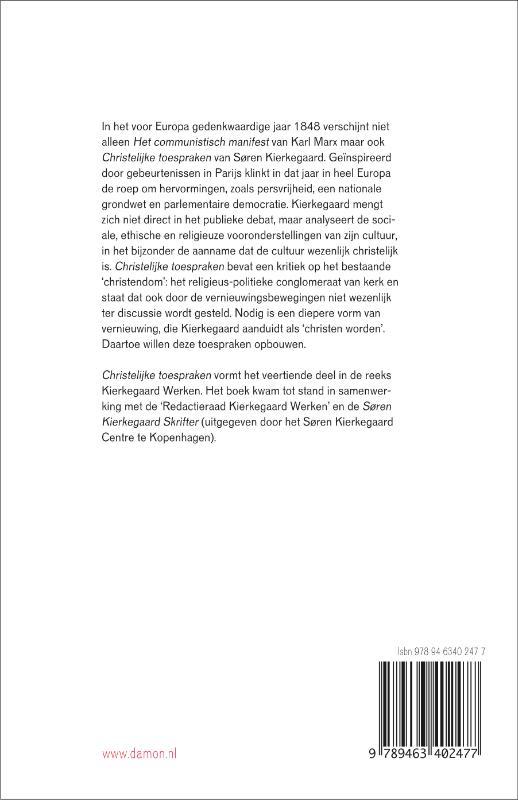 Søren Kierkegaard,Christelijke toespraken