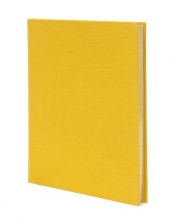 Weskin Lined Cloth Notebook Yellow Medium