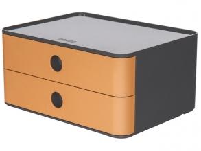 , Smart-box Han Allison met 2 lades caramel bruin, stapelbaar