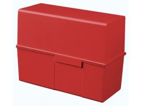 , kaartenbak HAN breed A5 kunststof rood