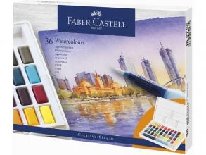 , Waterverf Faber-Castell in box met 36 kleuren