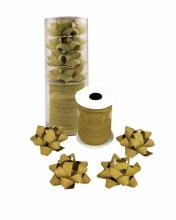 , Cadeaulint   strik glitter goud