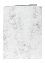 , Correspondentiekaart Papicolor dubbel 105x148mm Marble grijs