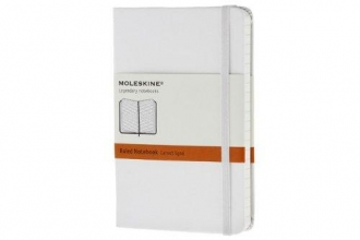 Moleskine White Pocket Ruled Notebook Hard