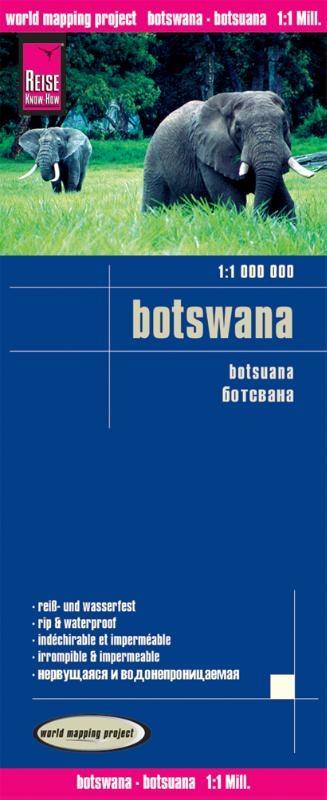 ,Reise Know-How Landkarte Botswana 1 : 1.000.000