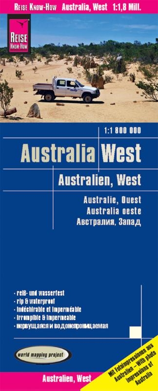 ,Reise Know-How Landkarte Australien, West 1 : 1.800.000