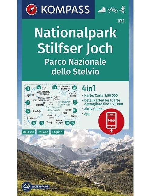 Kompass-Karten Gmbh,Nationalpark Stilfserjoch, Parco Nazionale dello Stelvio 1:50 000