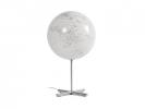 ,globe Lamp 30cm diameter RVS wit met verlichting