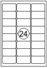 ,Etiket Quantore 63.5x33.9mm 2400stuks