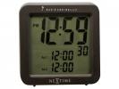 ,Alarmklok NeXtime 9 x 9.2 cm, plastic, mat zwart, `Square   Alarm` Radio Controlled