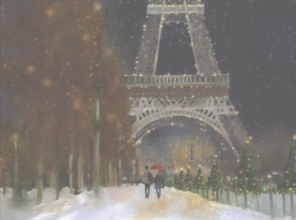 Midnight in Paris Deluxe Boxed Holiday Cards