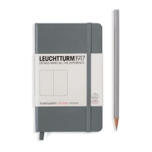 Lt34478 , Leuchtturm notitieboek pocket 90x150 dots / bullets anthraciet