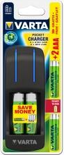 , Batterij oplader Varta pocket incl. 4x2100MAH + 2x800MAH