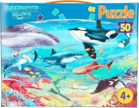 , Dino world puzzel 50 stukjes underwater