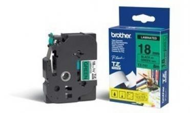 , Labeltape Brother P-touch TZE-741 18mm zwart op groen