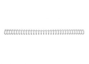 , Draadrug GBC 6mm 34-rings A4 zilver 100stuks