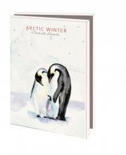 Mcw 230 , Kerstkaart mapje 10 stuks met env artic winter michelle dujardin