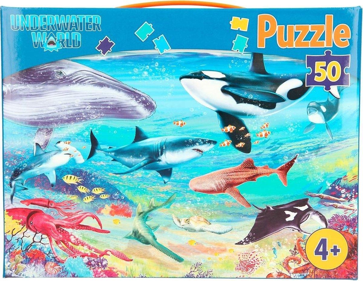 ,Dino world puzzel 50 stukjes underwater