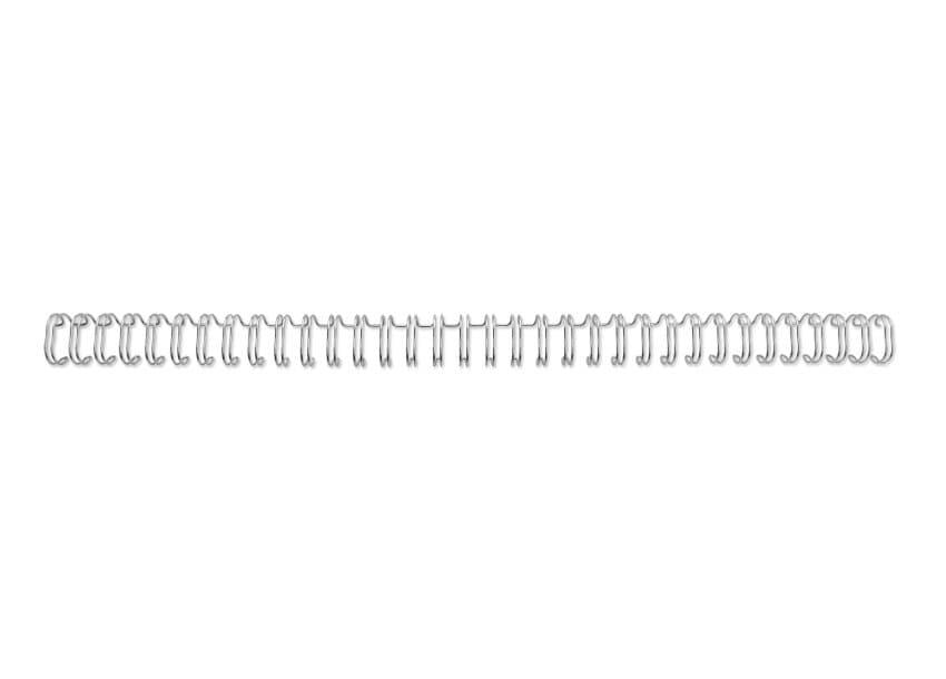 ,Draadrug GBC 6mm 34-rings A4 zilver 100stuks
