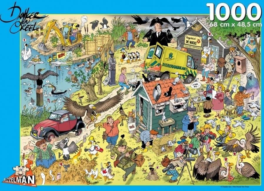 ,Puzzel puzzelman- vogels danker jan- 1000 stukjes 68x48.5 cm
