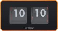 , tafelklok NeXtime 9.2x17.5x9.6cm, oranje, plastic