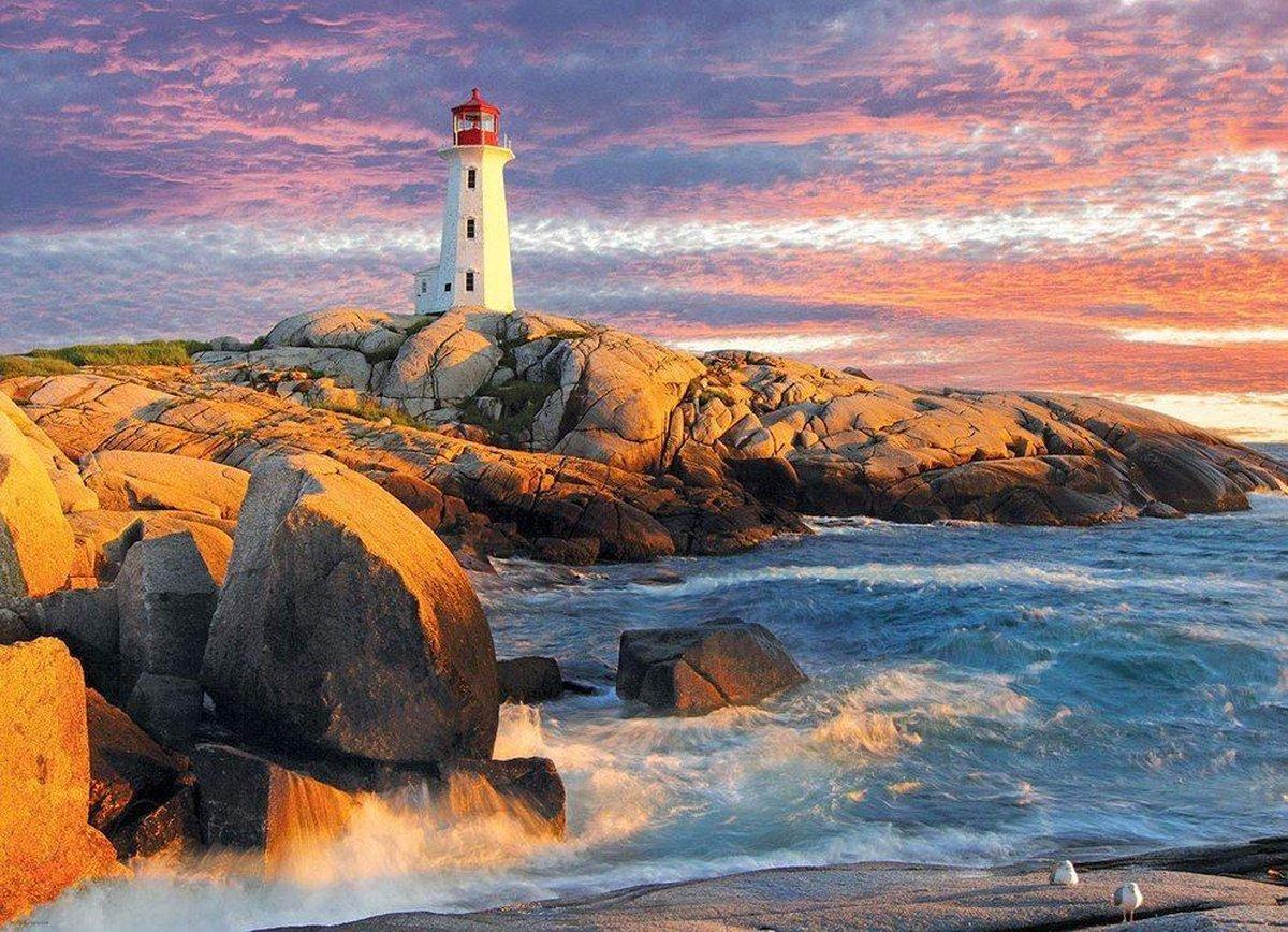 Eur-6000-5437,Puzzel  peggy`s cove lighthouse - nova scotia- 1000 stuks