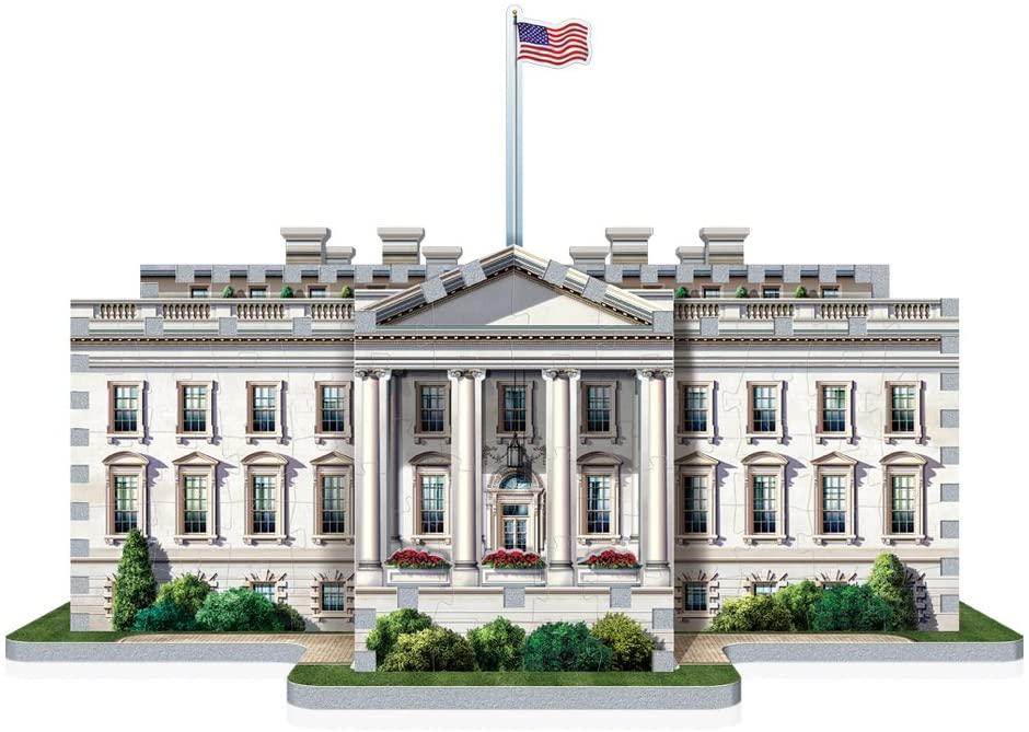 W3d-1007,Puzzel 3d the white house wrebbit 490 stuks