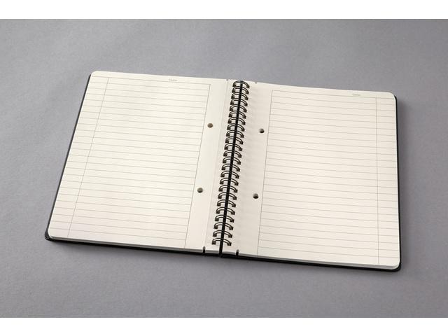 ,Notitieboek Sigel Conceptum A5 lijn spiraal zwart