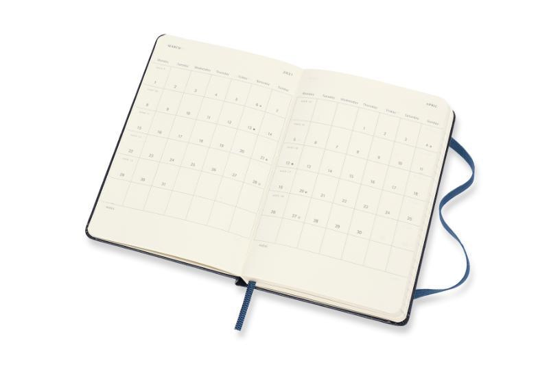 ,Moleskine 12 MND Agenda - 2021 - Wekelijks - Pocket (9x14 cm) - Sapphire Blauw - Harde Kaft