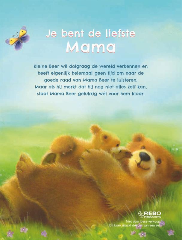 ,Je bent de liefste mama - boek & knuffelbeer