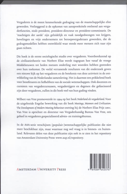 Wilbert van Vree,Nederland als vergaderland