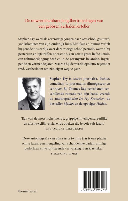 Stephen Fry,Een jongensleven