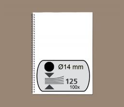 , Draadrug Fellowes 14mm 34-rings A4 zwart 100stuks