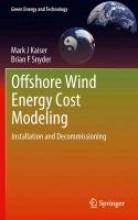 Kaiser, Mark J. Offshore Wind Energy Cost Modeling